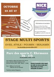 Stage multi-sports - Octobre 2017